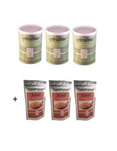 Pack 3 spiruline brindilles + 3...